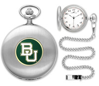 Baylor Bears Silver Plated Pocket Watch