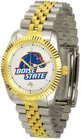 Boise State Broncos Executive  2-Tone 23k Gold Stainless Steel Watch (Men's or Women's)