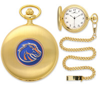 Boise State Broncos Gold Plated Pocket Watch