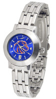 Boise State Broncos Ladies Silver Stainless Steel Dynasty AnoChrome Watch