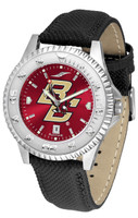 Boston College Eagles Competitor Crimson AnoChrome Leather Watch with Colored Bezel (Men's or Women's)