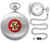 Boston College Eagles Silver Plated Pocket Watch