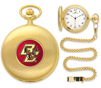 Boston College Eagles Gold Plated Pocket Watch
