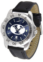 BRIGHAM YOUNG COUGARS Sport Leather AnoChrome Watch (Men's or Women's)