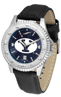 BRIGHAM YOUNG COUGARS Competitor Crimson AnoChrome Leather Watch with Colored Bezel (Men's or Women's)