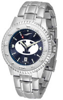 BRIGHAM YOUNG COUGARS Competitor Stainless Steel AnoChrome Watch (Men's or Women's)