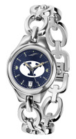 BRIGHAM YOUNG COUGARS Ladies Silver Eclipse AnoChrome Watch