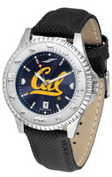 California Berkeley Golden Bears Competitor Crimson AnoChrome Leather Watch with Colored Bezel (Men's or Women's)