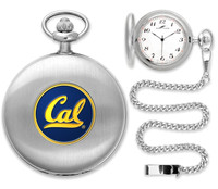 California Berkeley Golden Bears Silver Plated Pocket Watch