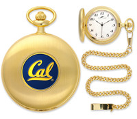 California Berkeley Golden Bears Gold Plated Pocket Watch