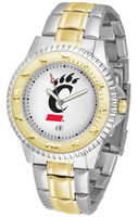 Cincinnati Bearcats Competitor 2-Tone 23k Gold Stainless Steel Watch (Men's or Women's)