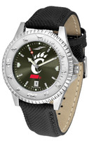 Cincinnati Bearcats Competitor Crimson AnoChrome Leather Watch with Colored Bezel (Men's or Women's)