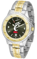 Cincinnati Bearcats Competitor 2-Tone 23k Gold AnoChrome Stainless Steel Watch (Men's or Women's)