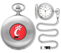 Cincinnati Bearcats Silver Plated Pocket Watch