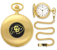 Colorado Buffaloes Gold Plated Pocket Watch