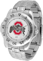 Ohio State Buckeyes Sport Stainless Steel Watch (Men's or Women's)