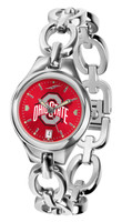 Ohio State Buckeyes Ladies Silver Eclipse AnoChrome Link Watch