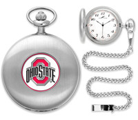 *Ohio State Buckeyes 2014 National Champions Silver Plated Pocket Watch