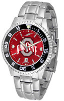 Ohio State Buckeyes Competitor AnoChrome Stainless Steel Watch with Colored Bezel (Men's or Women's)