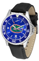 Florida Gators Competitor Leather AnoChrome Leather Watch - Blue Dial w/Colored Bezel (Men's or Women's)