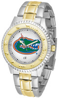 Florida Gators Competitor 2-Tone 23k Gold Stainless Steel Watch - White Dial (Men's or Women's)