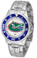 Florida Gators Competitor Stainless Steel Watch - White Dial (Men's or Women's)