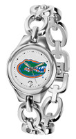 Florida Gators Ladies Silver Eclipse Link Watch - White Dial