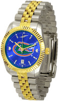 Florida Gators Executive  2-Tone 23k Gold AnoChrome Stainless Steel Watch - Blue Dial (Men's or Women's)