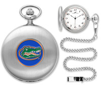 Florida Gators Silver Pocket Watch w/Chian