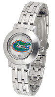 Florida Gators Ladies Silver Stainless Steel Dynasty Watch - White Dial