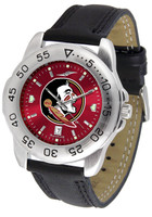Florida State Seminoles Sport Leather AnoChrome Watch Red Dial (Men's or Women's)
