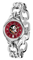 Florida State Seminoles Ladies Silver Eclipse Link AnoChrome Watch - Red Dial