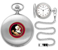 Florida State Seminoles Silver Pocket Watch w/Chian