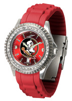 Florida State Seminoles Sparkle AnoChrome Sport  Watch - Red Silicone Band