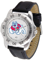 Fresno State Bulldogs Sport Leather Watch White Dial (Men's or Women's)