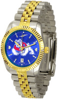 Fresno State Bulldogs Executive  2-Tone 23k Gold AnoChrome Stainless Steel Watch - Color Dial (Men's or Women's)