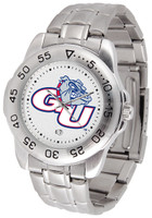 Gonzaga Bulldogs Sport Stainless Steel Watch White Dial (Men's or Women's)