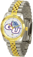 Gonzaga Bulldogs Executive  2-Tone 23k Gold Stainless Steel Watch - White Dial (Men's or Women's)