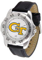 Georgia Tech Yellow Jackets Sport Leather Watch White Dial (Men's or Women's)