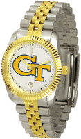 Georgia Tech Yellow Jackets Executive  2-Tone 23k Gold Stainless Steel Watch - White Dial (Men's or Women's)