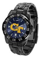 Georgia Tech Yellow Jackets Fantom Gunmetal Sport AnoChrome Watch - Red Dial (Men's or Women's)