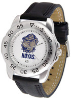 Georgetown Hoyas Sport Leather Watch White Dial (Men's or Women's)