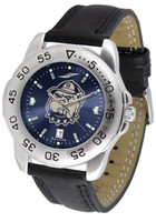 Georgetown Hoyas Sport Leather AnoChrome Watch Red Dial (Men's or Women's)