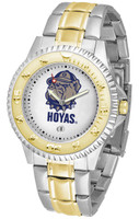 Georgetown Hoyas Competitor 2-Tone 23k Gold Stainless Steel Watch - White Dial (Men's or Women's)