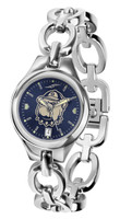 Georgetown Hoyas Ladies Silver Eclipse Link AnoChrome Watch - Red Dial