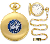 Georgetown Hoyas Gold Pocket Watch w/Chain