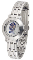 Georgetown Hoyas Ladies Silver Stainless Steel Dynasty Watch - White Dial