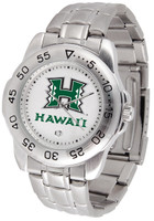 Hawaii Warriors Sport Stainless Steel Watch White Dial (Men's or Women's)