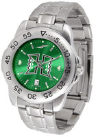 Hawaii Warriors Sport Stainless Steel AnoChrome Watch Red Dial (Men's or Women's)