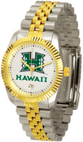Hawaii Warriors Executive  2-Tone 23k Gold Stainless Steel Watch - White Dial (Men's or Women's)